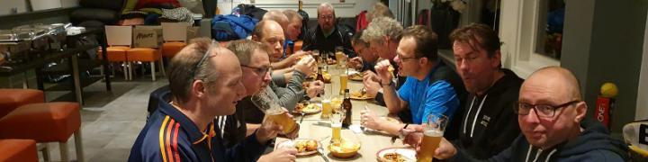 Alle deelnemers genoten na afloop van een smakelijk Chinees buffet